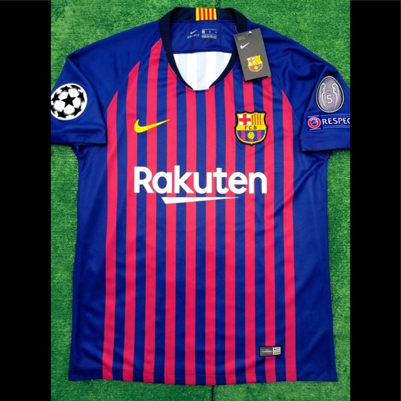 b2a2f6eff 2018 19 Barcelona soccer jersey Messi Nike